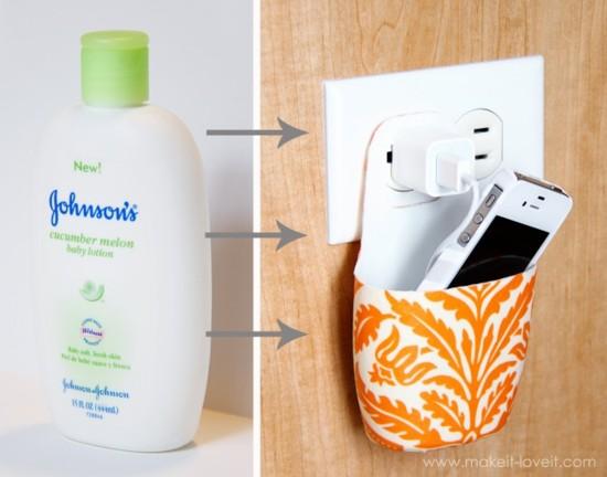 Lotion Bottle Cell Phone Holder