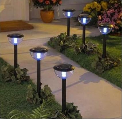 luz solar para jardines