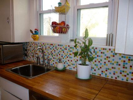 Reforma instalar azulejos de cristal en la cocina - Azulejos decorativos para cocina ...
