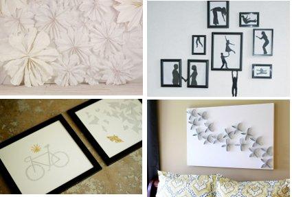 Decora tus paredes con papel - Como decorar una pared blanca ...
