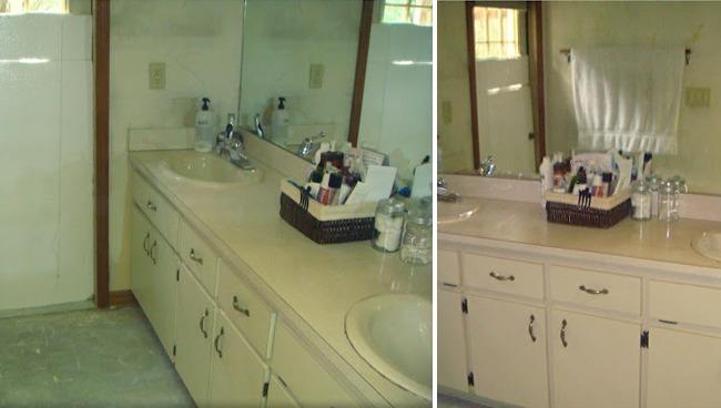 Antes y despu s un ba o completamente transformado por - Pintar mueble bano ...