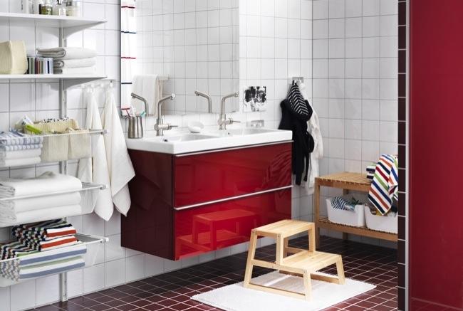 Azulejos Para Baño Rojo:Tendencias en estilos para el baño en el Catálogo de Ikea 2013