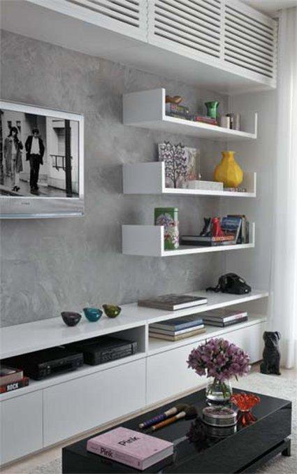Un peque o piso estilo ecl ctico moderno - Piso pequeno moderno ...