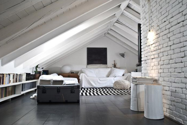 Un sencillo y r stico loft italiano - Photos de loft amenager idees ...