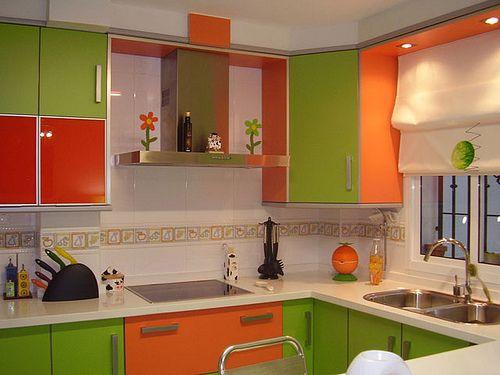 Tips para decorar cocinas con color naranja - Cocinas color naranja ...