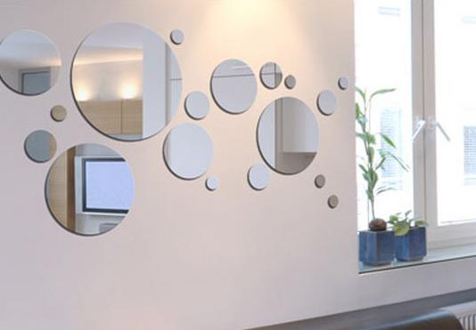 Montajes con espejos para decorar for Paredes con espejos