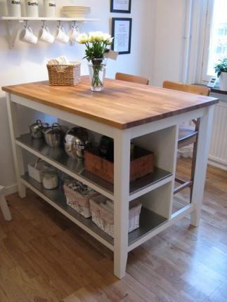Image Of Muebles Auxiliar De Cocina Ikea TORNVIKEN Isla hueso roble ...