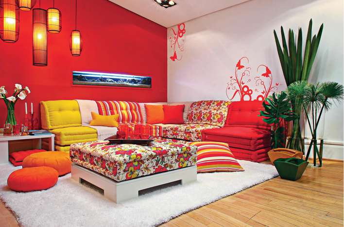 Decoracion Living Rojo ~ Qu? cojines usar en un sof? de color rojo